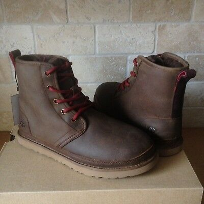 bef716e3395 UGG Harkley Grizzly Waterproof Leather Chukka Boots Shoes Size US 11 Mens  New