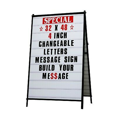 32x 48 A Frame Changeable Letters Message Sidewalk Sign With 4 Letters Set