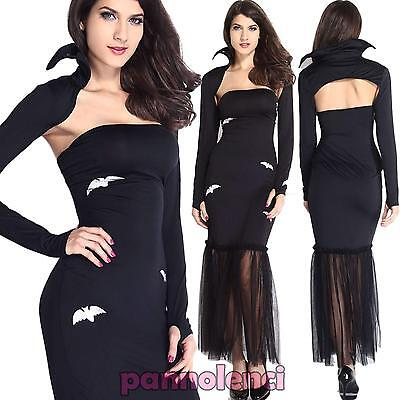 Costume vestito carnevale donna REGINA VAMPIRA abito travestimento DL-1604 - Costume Regina