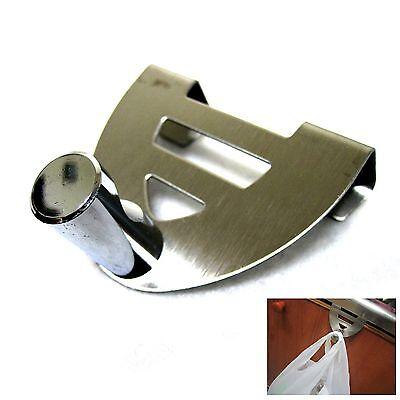 New Stainless Steel Door Hook Plastic Bag Hanger Kitchen Rack Sink Organizer