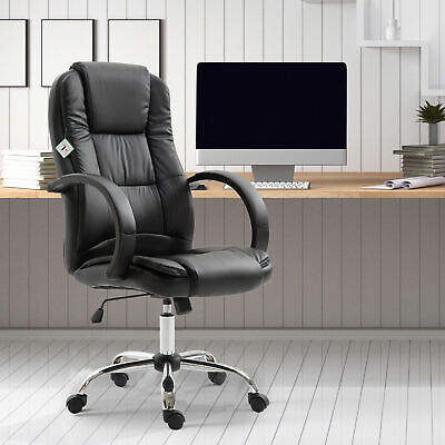 360 Vinsetto Executive High Back Office Chair Ergonomic Swivel Pu Leather Seat