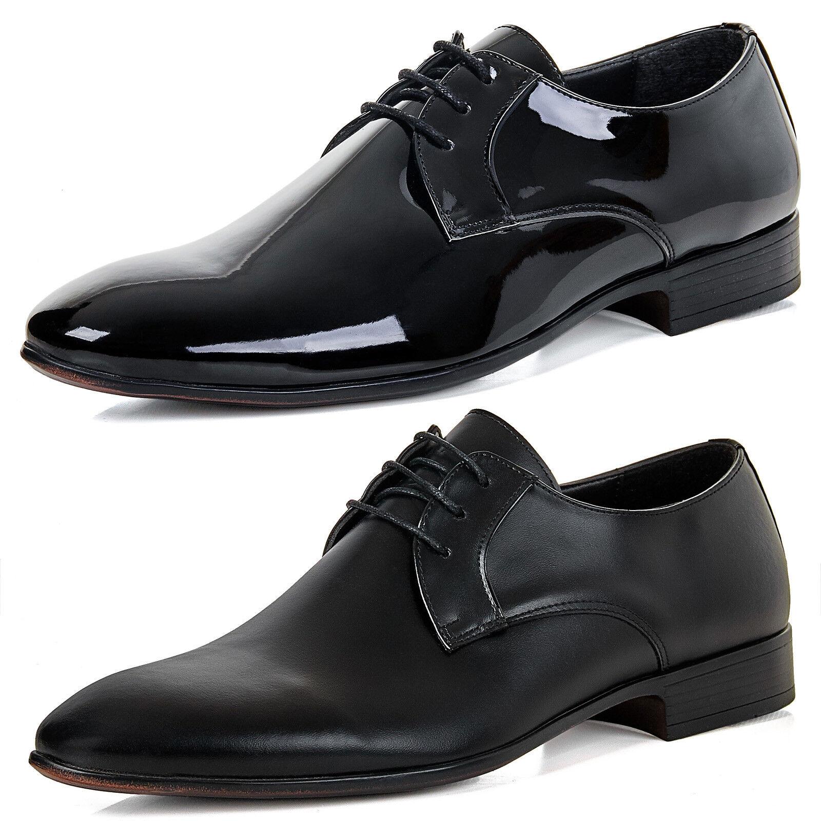 Alessandro Tonelli AT153 Herren Lack Schuhe Smoking Business Hochzeitsschuhe
