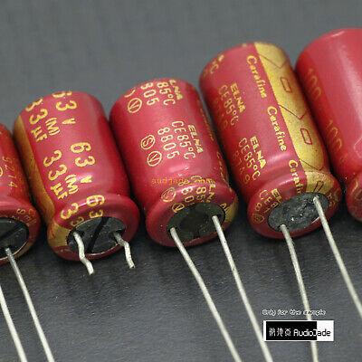 Audiojade 220uf 16v 4.7uf 25v 33uf 35v 63v Elna Roa Cerafine Red Capacitors