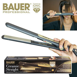 Professional 230 Degree Ceramic Straighteners Salon Heat Black&Gold Straightner