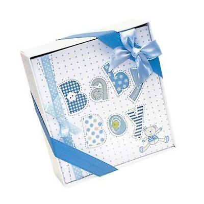 White and Blue Baby Boy Photo Album-4x6 Photos NEW for sale  USA