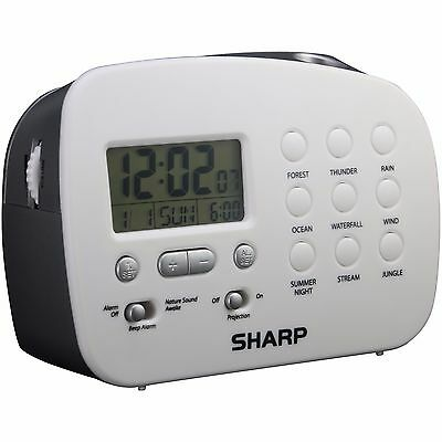 Different Sounds - Sharp SPC570 Ceiling Time Projection Alarm Clock, With 9 Different Nature Sounds