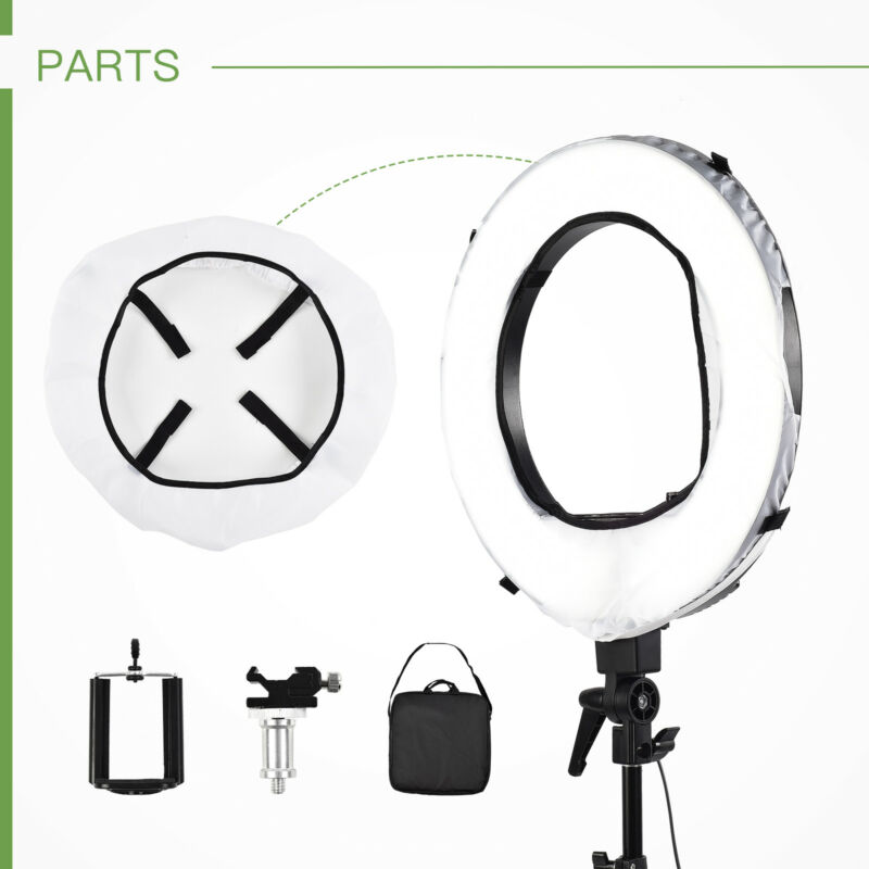 "18"" Camera Photo Video Dimmable Ring Fluorescent Flash Light Lighting Kit"