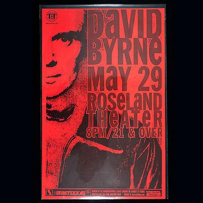 DAVID BRYNE 2001 Original 11 x 17 Promo Poster. Portland Oregon. MInt