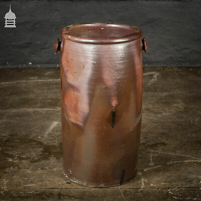 Large Victorian Salt Glazed Pot with Small Handles