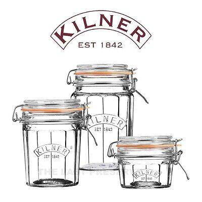 Kilner Clip Top Faceted Preserving Jars for Airtight Food Storage, Pickles & Jam