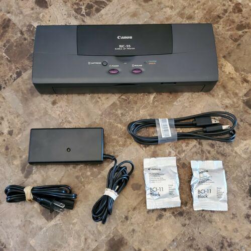Canon BJC-55 Portable USB Bubble Inkjet Printer Black Ink Battery Windows 10 - $124.99