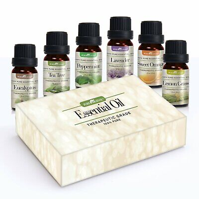 Essential Oils Set of 6-10 ml Bottles of Therapeutic-Grade Aromatherapy Oils Aromatherapy