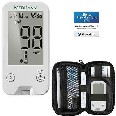 Premium Blutzuckermessgerät mg/dL inkl. Blutzuckerteststreifen und Lanzetten DE