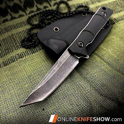 Sweet KISS Tanto Fixed Blade Tactical Slim Neck Knife Sheath BLACK Combat 2356   ()