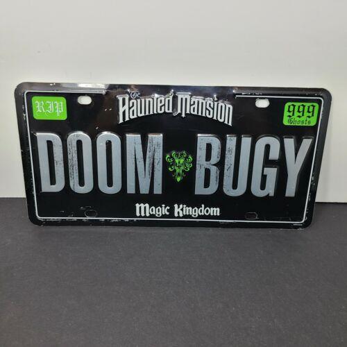 Disney World Haunted Mansion Doom Buggy Metal Car License Plate 2003 RARE USED