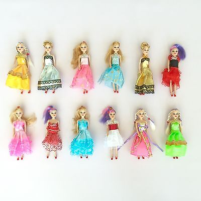 Miniature Barbie doll 12 pack playset bundle with princess