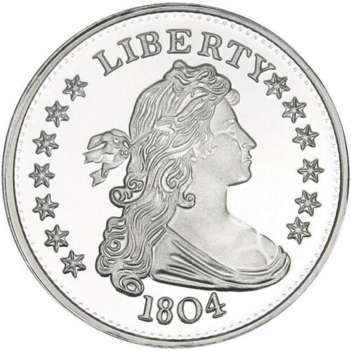 SilverTowne 1804 $1 Struck in 1oz .999 Fine Silver Medallion LOT OF 3
