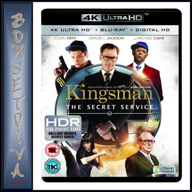KINGSMAN - Samuel L. Jackson  *BRAND NEW 4K ULTRA HD BLURAY + DIGITAL COPY *** *