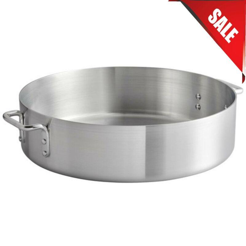 24 Qt. Standard Weight Aluminum Round Brazier Slow Cook Commercial Durable Pots