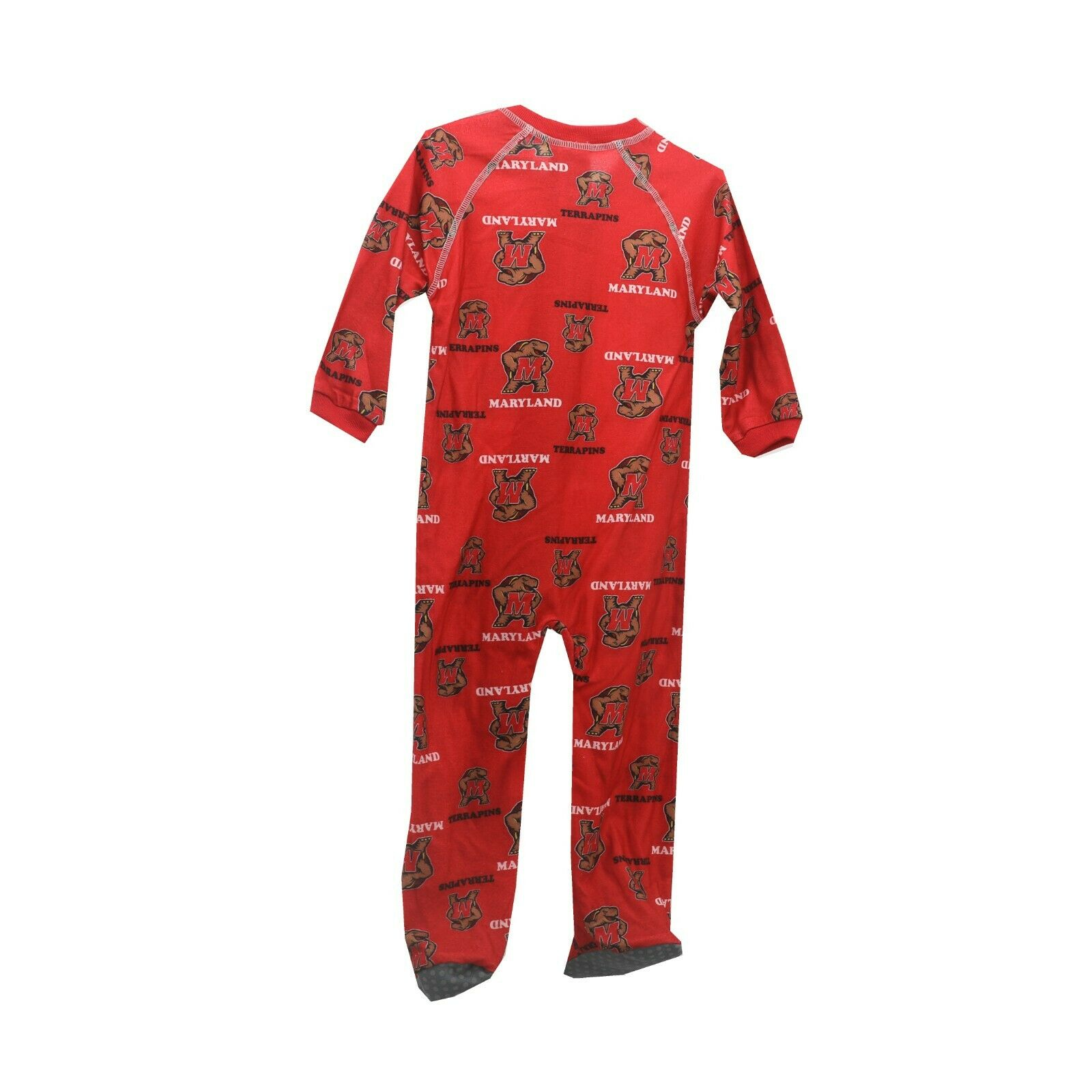 7f016c4e6 Maryland Terrapins Official NCAA Baby Infant Size Pajama Sleeper Bodysuit  New