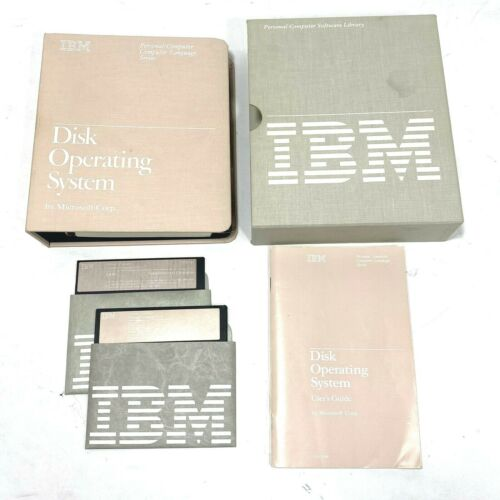 """1983 IBM DOS 2.1 Operating System 5 1/4"""" Diskettes and Manuals"""