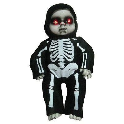 Creepy Baby Puppe Beleuchtete Augen Scary Geräusche Halloween Dekor 30.5cm