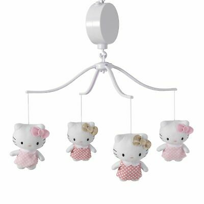 Bedtime Originals Hello Kitty Luv White/Pink Musical Baby Crib Mobile