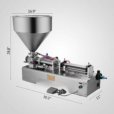 50-500ML Pneumatische Füllmaschine Filler Abfüllgerät Abfüllmaschine Stainless