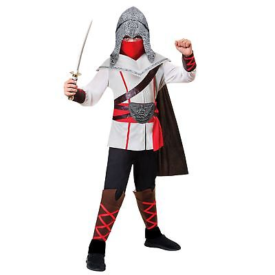 Kids Boys Assassin Ninja Warrior Martial Arts Creed Samurai Fancy Dress Costume - Kids Assassin Creed Costume