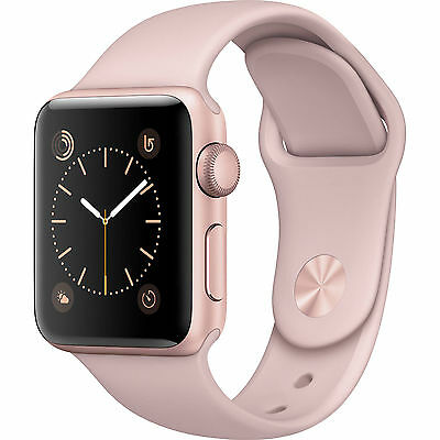 Apple Watch Series 1 38mm Rose Gold Aluminum Case Pink Sport Band  (MNNH2LL/A)