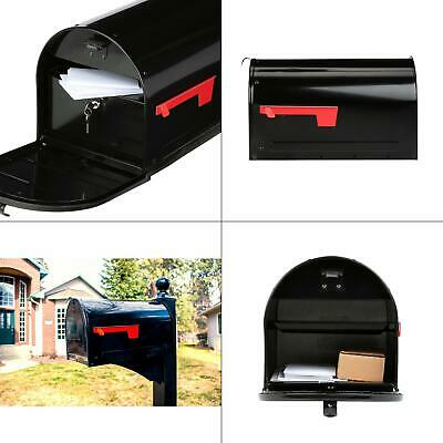 marshall black post mount large locking mailbox | gibraltar mailboxes locks new