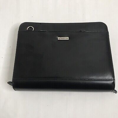 Franklin Covey Planner Binder Note Book Black Leather Compact Size