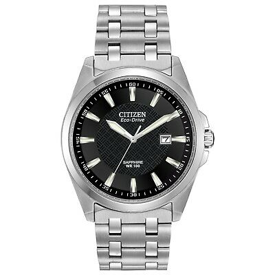 Citizen Eco-Drive Corso Men's BM7100-59E Black Dial Silver-Tone 41mm Watch