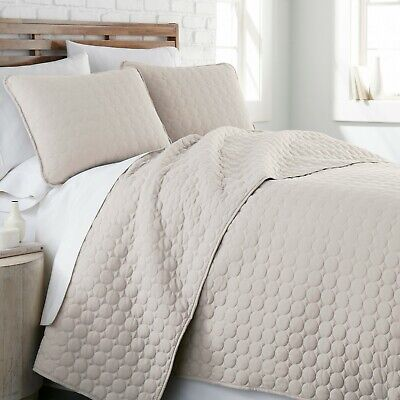 3 Piece Quilt - Ultra Soft Stitched Embroidered 3-Piece Quilt Set by Southshore Fine Linens