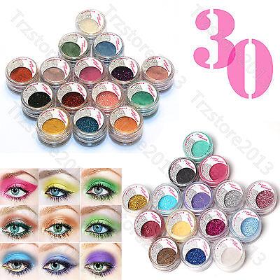Pro Makeup 30pcs Glitter Mineral Pigment Loose Eyeshadow Eye Shadow Dust Kit