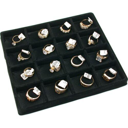 16 Slot Jewelry Coin Black Showcase Display Tray Insert