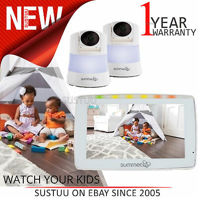 "Summer Infant Wide View Duo 5"" Monitor │Automatic Night Vi"