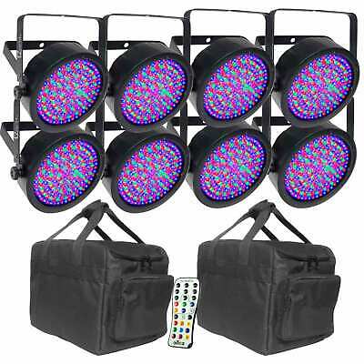 Chauvet DJ EZPar 56 LED Wireless Battery Wash Light 8 Pack + Bags