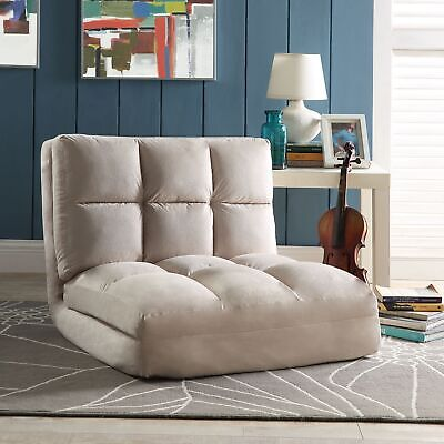 Comfy Micro Suede Convertible Fabric Flip Chair Sofa Bed Sleeper Lounger - Microsuede Chair Bed