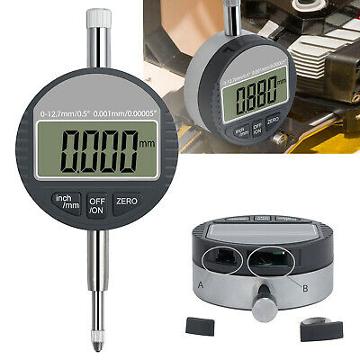 0.0010.00005 Digital Electronic Indicator Lcd Probe Test Gauge Range Dial New