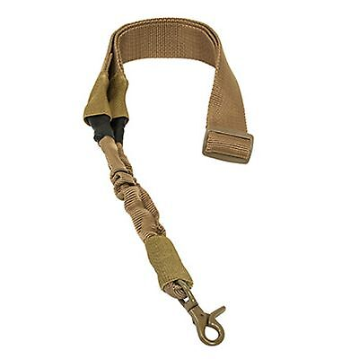 NcSTAR Heavy Duty Single One Point Rifle Gun Bungee Sling Universal Strap Tan