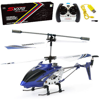 Купить Cheerwing S107 S107G 3.5CH Alloy Mini Remote Control RC Helicopter Gyro Blue