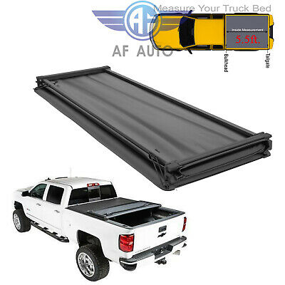 Fits 09-19 Dodge Ram Crew Cab 5.7ft 5.8ft Truck Bed Soft Tri-Fold Tonneau Cover