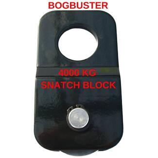 BOGBUSTER 4000 KG SNATCH BLOCK 4x4 OFF ROAD RECOVERY WINCH STRAP