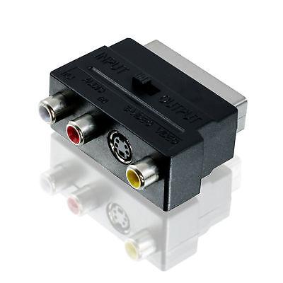 Scart Stecker auf 3x Chinch Buchse + S-Video Adapter 3 S-video