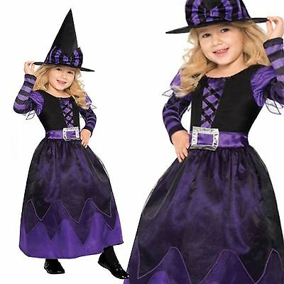 Purple Girls Long Wicked Witch West Fancy Dress Costume Halloween Oz Book Fairy - Wicked Fairy Halloween Costumes