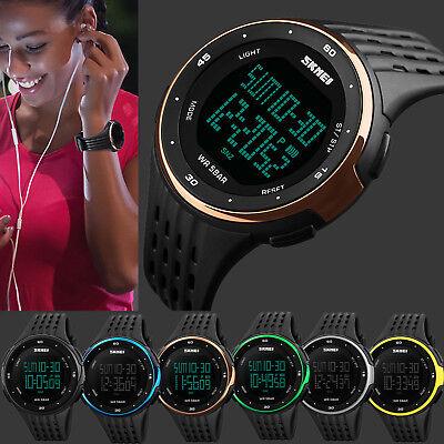 Unisex Men Women Waterproof Countdown Timer Date Sports Army Digital Wrist Watch