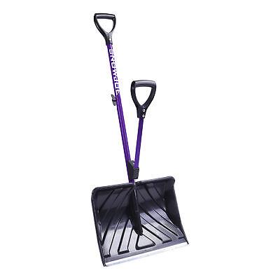 Snow Joe Shovelution Strain-Reducing Snow Shovel | Spring Assist Handle | Purple