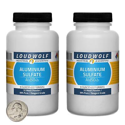 Aluminium Sulfate 1 Lb 2 Bottles 99 Pure Reagent Grade 10 Mesh Powder