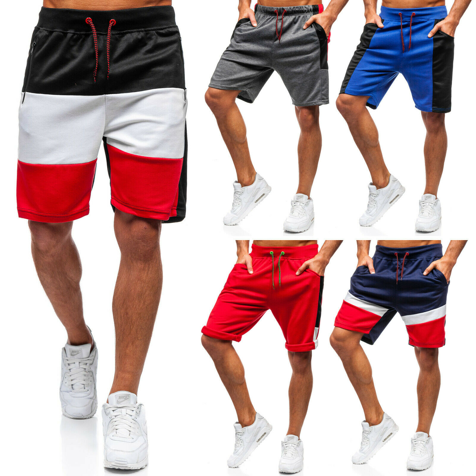 Shorts Kurzhose Bermudas Sporthose Trainings Jogging Herren Mix BOLF 7G7 Basic